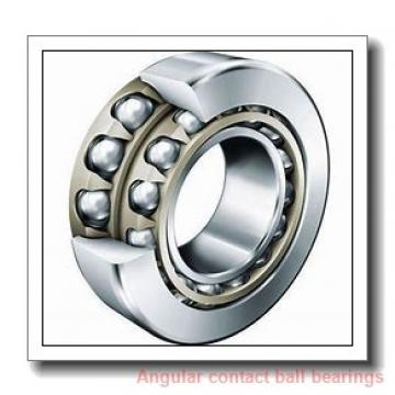 90 mm x 190 mm x 43 mm  Rollway 7318 BM Angular Contact Bearings